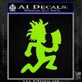 Hatchet Man Decal Sticker ICP Lime Green Vinyl 120x120