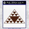 Hawaiian Triangle Decal Sticker BROWN Vinyl 120x120