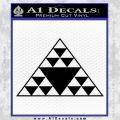 Hawaiian Triangle Decal Sticker Black Vinyl 120x120