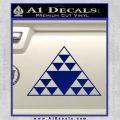Hawaiian Triangle Decal Sticker Blue Vinyl 120x120