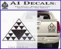Hawaiian Triangle Decal Sticker Carbon FIber Black Vinyl 120x97