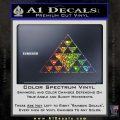 Hawaiian Triangle Decal Sticker Glitter Sparkle 120x120