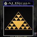 Hawaiian Triangle Decal Sticker Gold Vinyl 120x120