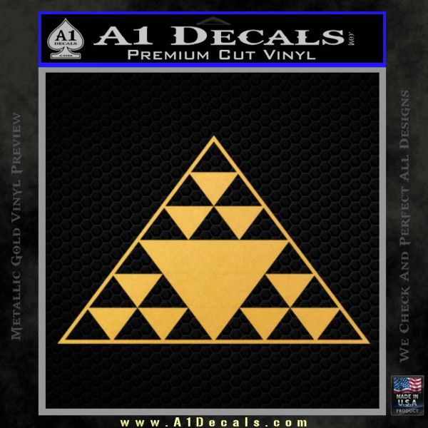 Hawaiian Triangle Decal Sticker Gold Vinyl