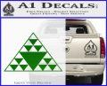Hawaiian Triangle Decal Sticker Green Vinyl Logo 120x97