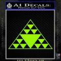 Hawaiian Triangle Decal Sticker Lime Green Vinyl 120x120