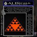Hawaiian Triangle Decal Sticker Orange Emblem 120x120
