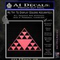 Hawaiian Triangle Decal Sticker Pink Emblem 120x120