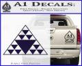 Hawaiian Triangle Decal Sticker PurpleEmblem Logo 120x97