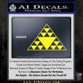 Hawaiian Triangle Decal Sticker Yellow Laptop 120x120