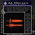 He Man Power Sword Decal Sticker 2pk Orange Emblem 120x120