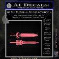 He Man Power Sword Decal Sticker 2pk Pink Emblem 120x120
