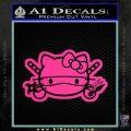 Hello Kitty Ninja Face D2 Decal Sticker Pink Hot Vinyl 120x120