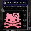 Hello Kitty Skull and Crossbones Decal Sticker Soft Pink Emblem 120x120