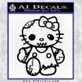 Hello Kitty Zombie Apocolypse HKZ Decal Sticker Black Vinyl 120x120