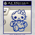 Hello Kitty Zombie Apocolypse HKZ Decal Sticker Blue Vinyl 120x120