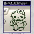 Hello Kitty Zombie Apocolypse HKZ Decal Sticker Dark Green Vinyl 120x120