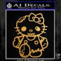 Hello Kitty Zombie Apocolypse HKZ Decal Sticker Gold Metallic Vinyl 120x120