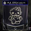 Hello Kitty Zombie Apocolypse HKZ Decal Sticker Metallic Silver Vinyl 120x120