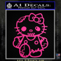 Hello Kitty Zombie Apocolypse HKZ Decal Sticker Neon Pink Vinyl 120x120