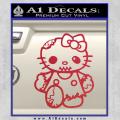 Hello Kitty Zombie Apocolypse HKZ Decal Sticker Red Vinyl 120x120