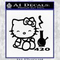 Hello Kitty and Bong RR Decal Sticker Black Vinyl 120x120