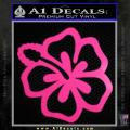 Hibiscus Hollow Decal Sticker Neon Pink Vinyl 120x120