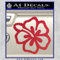 Hibiscus Hollow Decal Sticker Red Vinyl 120x120