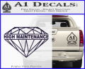 High Maintenance Diamond Decal Sticker Purple Vinyl 120x97