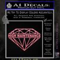 High Maintenance Diamond Decal Sticker Soft Pink Emblem 120x120