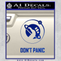 Hitch Hikers Guide Dont Panic New Decal Sticker Blue Vinyl 120x120