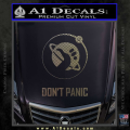 Hitch Hikers Guide Dont Panic New Decal Sticker CFC Vinyl 120x120