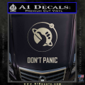 Hitch Hikers Guide Dont Panic New Decal Sticker Metallic Silver Vinyl 120x120