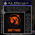 Hitch Hikers Guide Dont Panic New Decal Sticker Orange Emblem 120x120