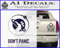 Hitch Hikers Guide Dont Panic New Decal Sticker Purple Vinyl 120x97