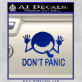 Hitchhikers Guide To The Galaxy Decal Sticker A Blue Vinyl 120x120