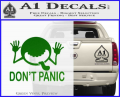 Hitchhikers Guide To The Galaxy Decal Sticker A Green Vinyl 120x97