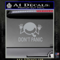 Hitchhikers Guide To The Galaxy Decal Sticker A Grey Vinyl 120x120