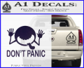 Hitchhikers Guide To The Galaxy Decal Sticker A Purple Vinyl 120x97