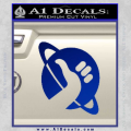 Hitchhikers Guide To The Galaxy Decal Sticker B Blue Vinyl 120x120