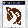 Hitchhikers Guide To The Galaxy Decal Sticker B Brown Vinyl 120x120