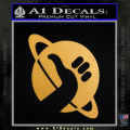 Hitchhikers Guide To The Galaxy Decal Sticker B Gold Metallic Vinyl 120x120