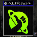 Hitchhikers Guide To The Galaxy Decal Sticker B Neon Green Vinyl 120x120