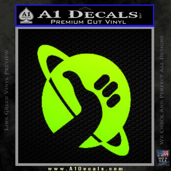 Hitchhikers Guide To The Galaxy Decal Sticker B Neon Green Vinyl