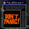 Hitchhikers Guide to the Galaxy Dont Panic Decal Sticker Orange Emblem 120x120
