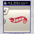 Hot Wheels Jeep D1 Decal Sticker Red Vinyl 120x120