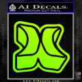 Hurley 3D Decal Sticker Neon Green Vinyl 120x120