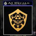Hylain Shield Oot D1 Decal Sticker Gold Vinyl 120x120