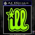 Ill Star D2 Decal Sticker Lime Green Vinyl 120x120