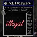 Illegal D1 Decal Sticker Pink Emblem 120x120
